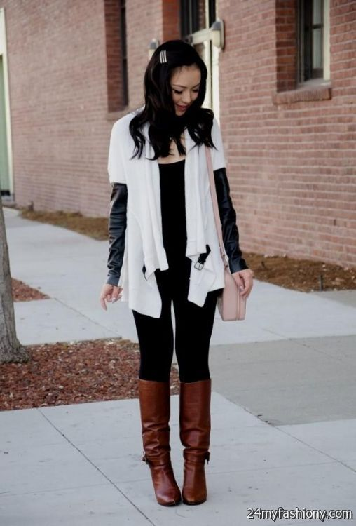 Winter dress outfits with boots 2016-2017 | B2B Fashion