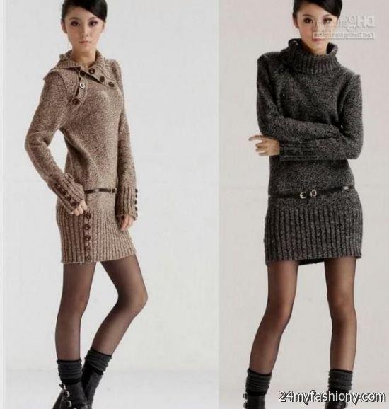 Winter sweater dresses for women