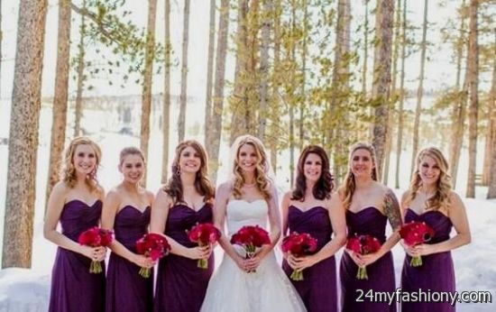 Winter wedding bridesmaid dresses 2016 2017 b2b fashion for Winter wedding colors for bridesmaids dresses