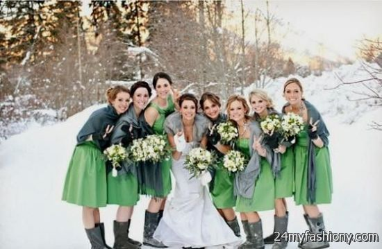 Winter Wedding Bridesmaid Dresses 2016 2017
