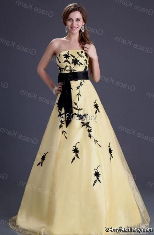 yellow and black ball gown 2016-2017 | B2B Fashion