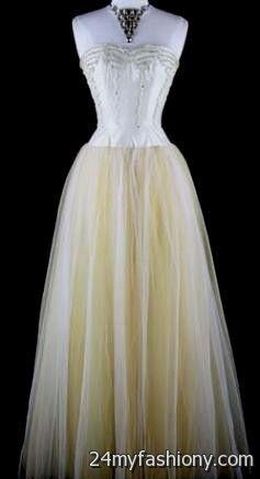 yellow and white wedding dress 2016-2017 | B2B Fashion