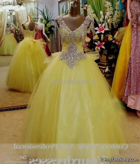 Yellow Wedding Gowns: Yellow And White Wedding Gowns 2016-2017