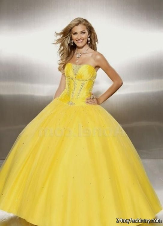 yellow ball gown 2016-2017   B2B Fashion