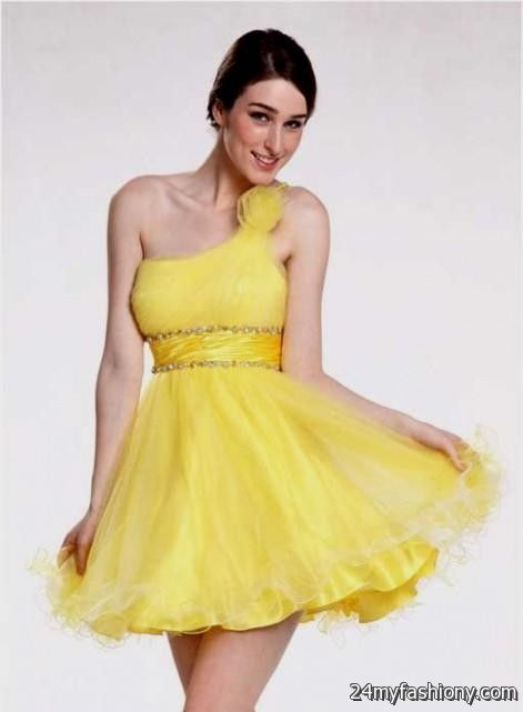 yellow cocktail dress 2016-2017 » B2B Fashion