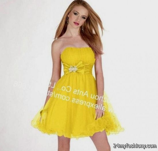 yellow cocktail dress 2016-2017 | B2B Fashion