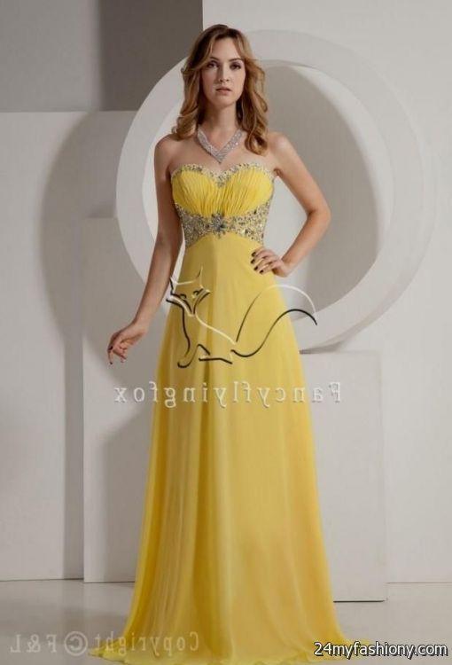 yellow dresses for weddings 2016-2017 » B2B Fashion