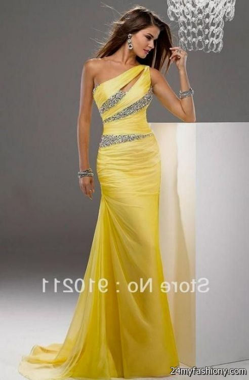 Devening dresses in yellow