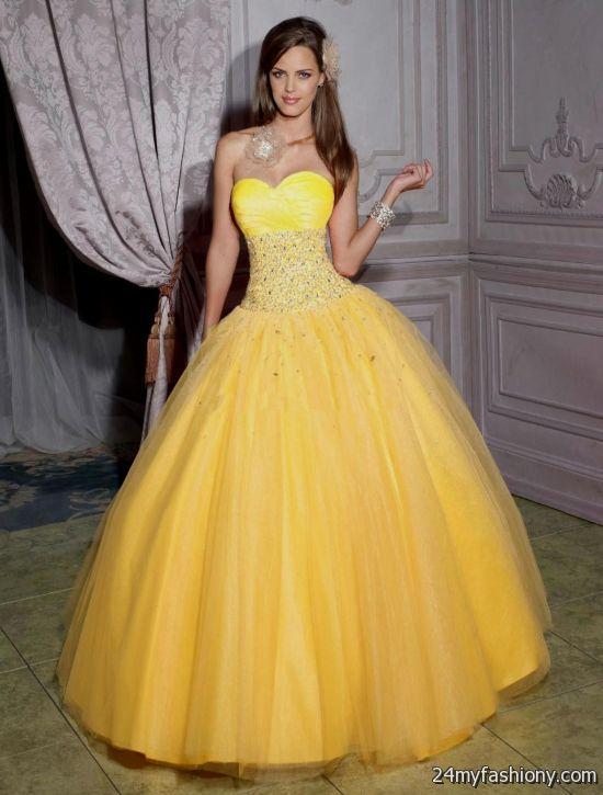 yellow gowns 2016-2017 » B2B Fashion