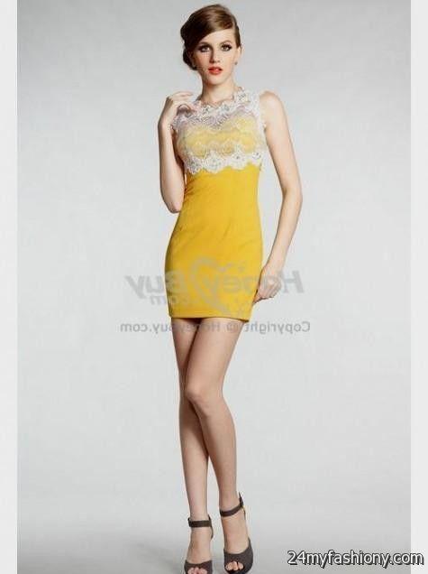 yellow lace dress 2017 - photo #26