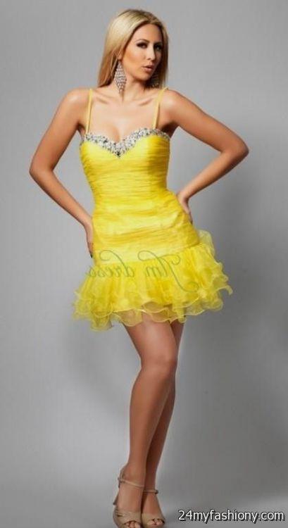 yellow lace dress 2017 - photo #16