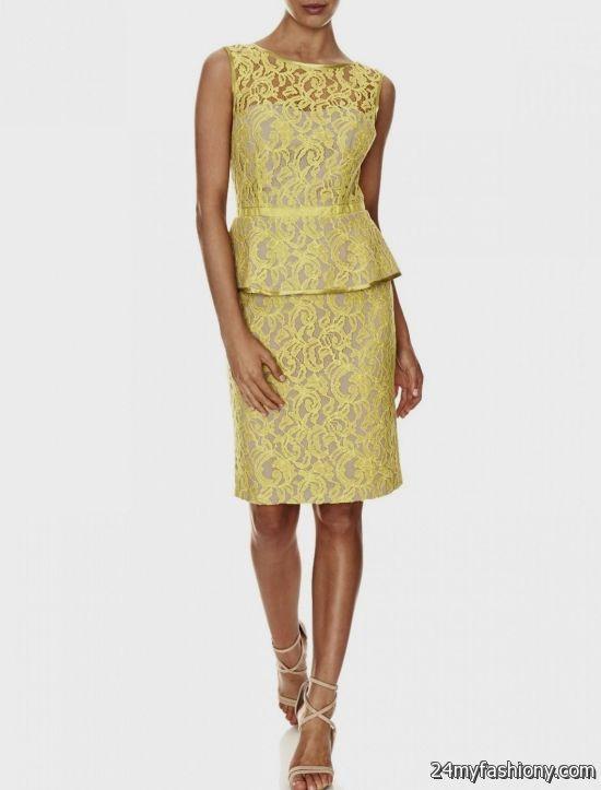 yellow lace dress 2017 - photo #21