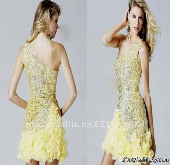 yellow lace dress 2017 - photo #4