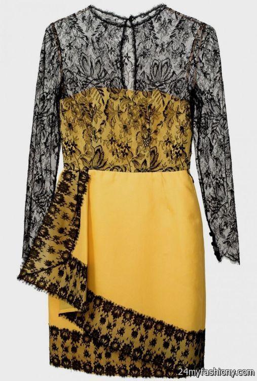 yellow lace dress 2017 - photo #20