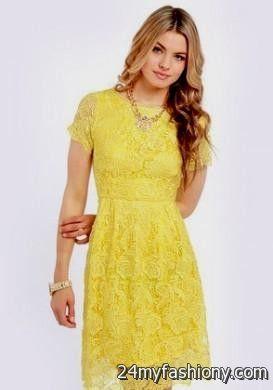 yellow lace dress 2017 - photo #31