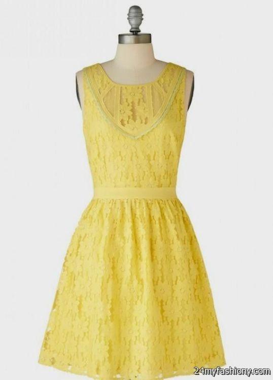 yellow lace dress 2017 - photo #1