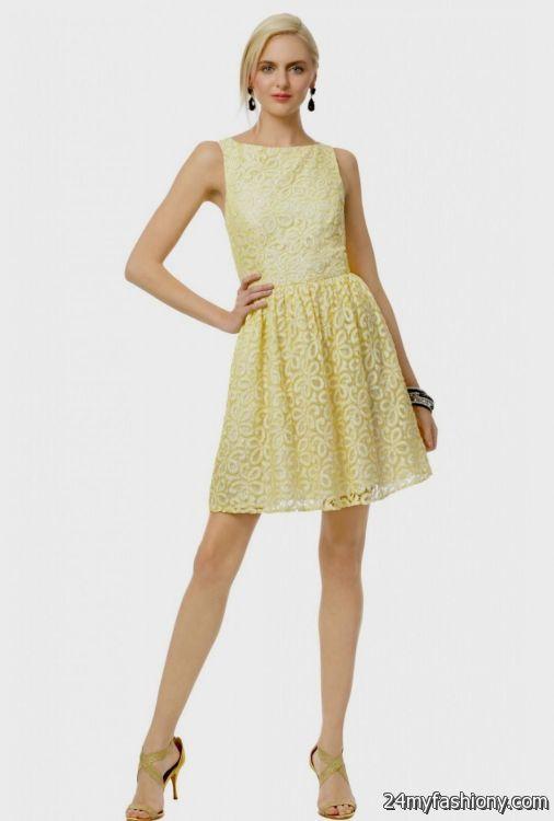 yellow lace dress 2017 - photo #6