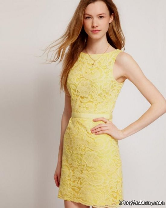 yellow lace dress 2017 -#main