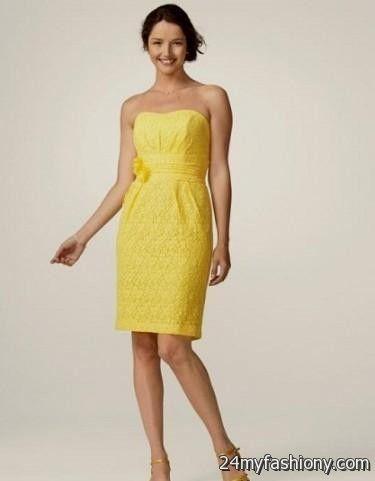 yellow lace dress 2017 - photo #29