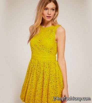 yellow lace dress 2017 - photo #32