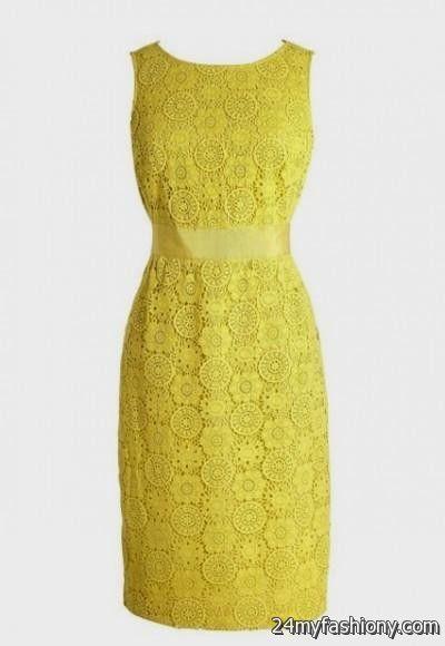 yellow lace dress 2017 - photo #9