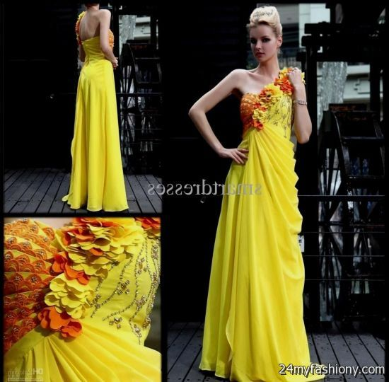 yellow lace prom dress 2017 - photo #23