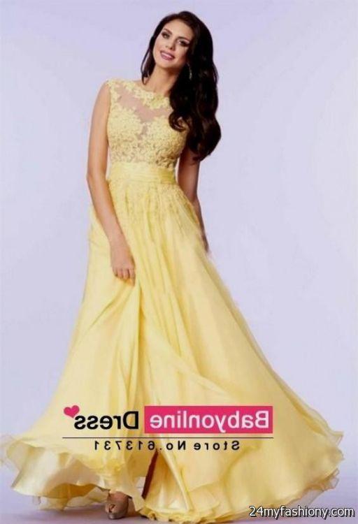 yellow lace prom dress 2017 - photo #4