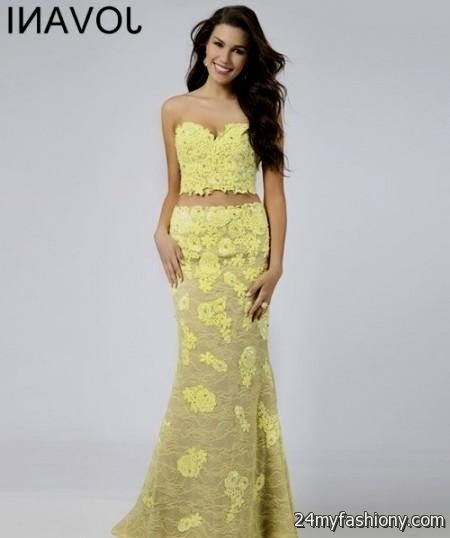 yellow lace prom dress 2017 - photo #2