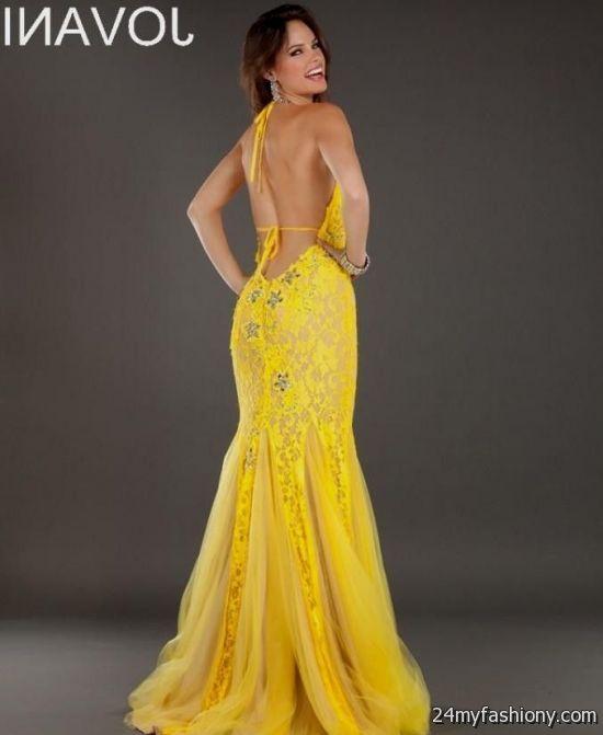 yellow mermaid prom dresses 20162017 b2b fashion