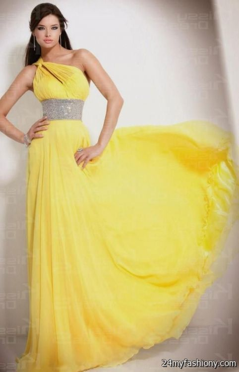 Yellow Prom Dresses 2016