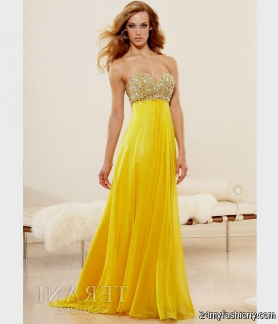 Yellow Jovani Prom Dresses 101