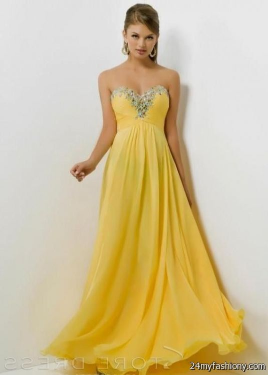 Yellow Prom Dresses For 2018 49