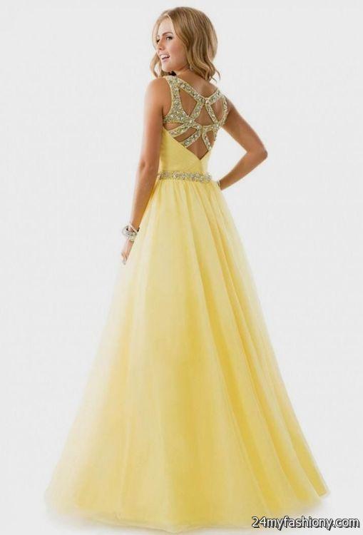 Yellow prom dresses 2014