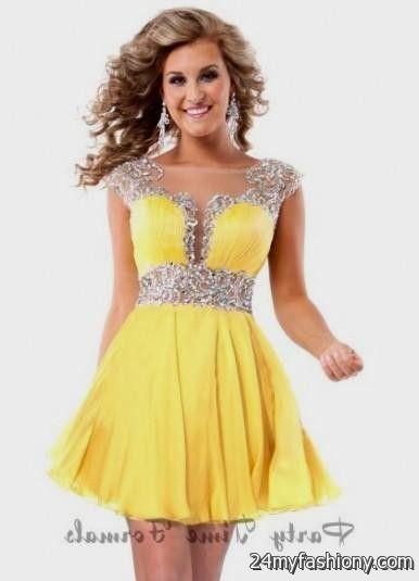 yellow short prom dresses 2016-2017 » B2B Fashion
