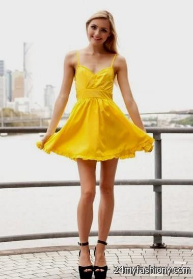 yellow summer dress 2016-2017 | B2B Fashion
