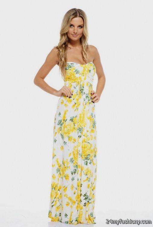 yellow summer maxi dress 2016-2017 » B2B Fashion