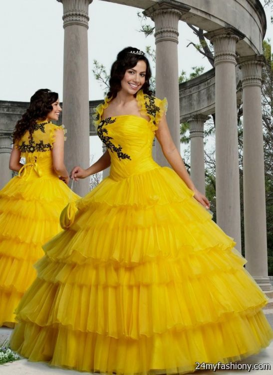 Yellow wedding gowns 2016 2017 b2b fashion for Yellow dresses for weddings