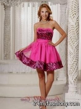 Zebra Graduation Dresses 113