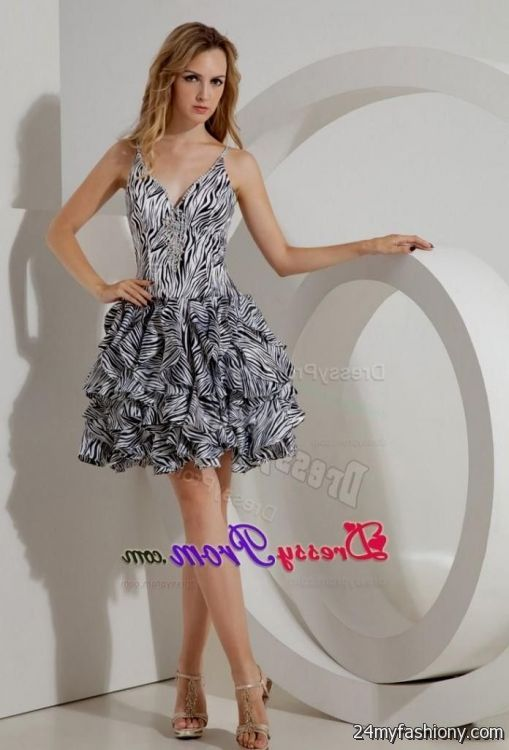 Zebra Graduation Dresses 78