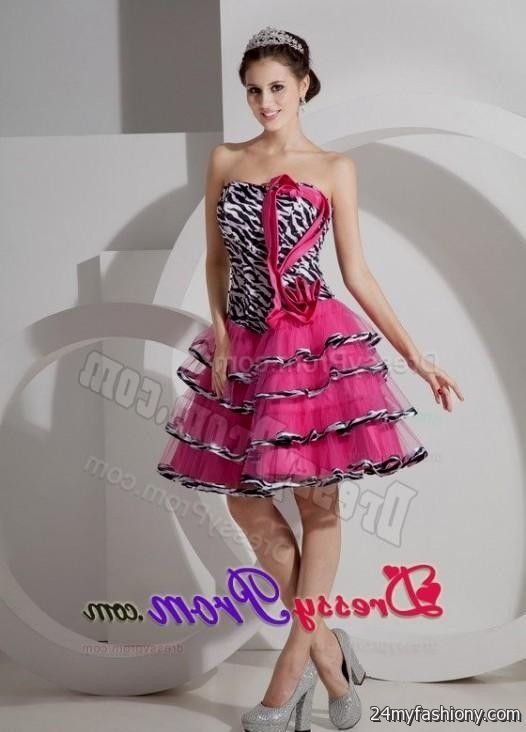 Zebra Graduation Dresses 108