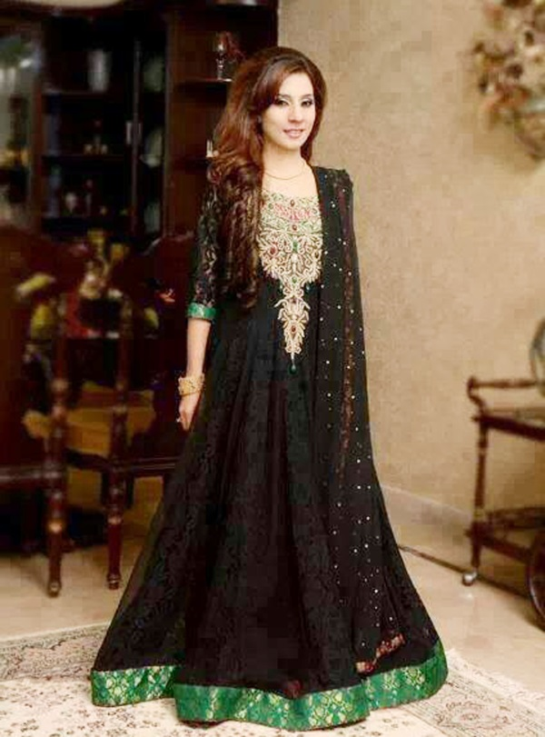 Maxi dresses with sleeves pakistani 2016-2017 | B2B Fashion