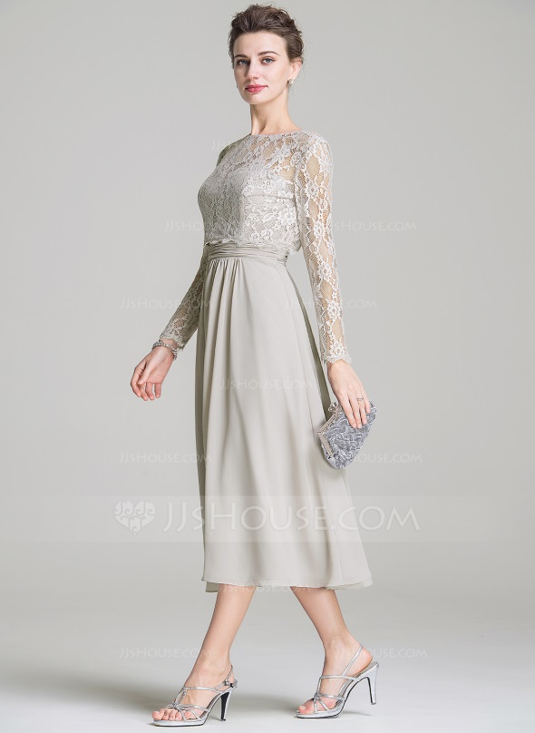 Mother Of The Bride Dresses Tea Length Silver Looks B2b