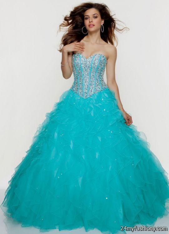 aqua ball gown prom dresses 2016-2017   B2B Fashion