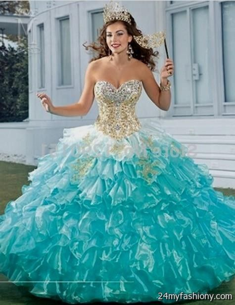 quinceanera dresses turquoise and gold wwwpixsharkcom