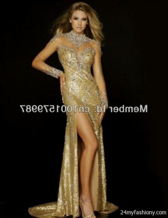 beautiful gold prom dresses 2016-2017