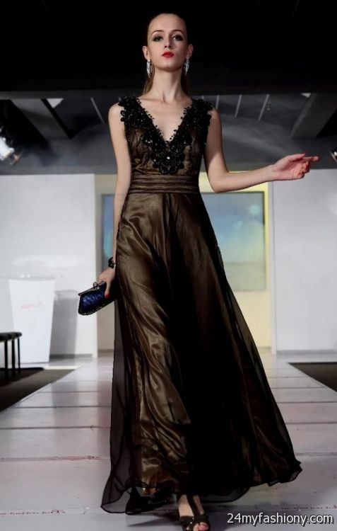 Black And Gold Ball Gowns Looks B2b Fashion