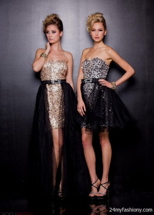 Gold Corset Prom Dresses 20