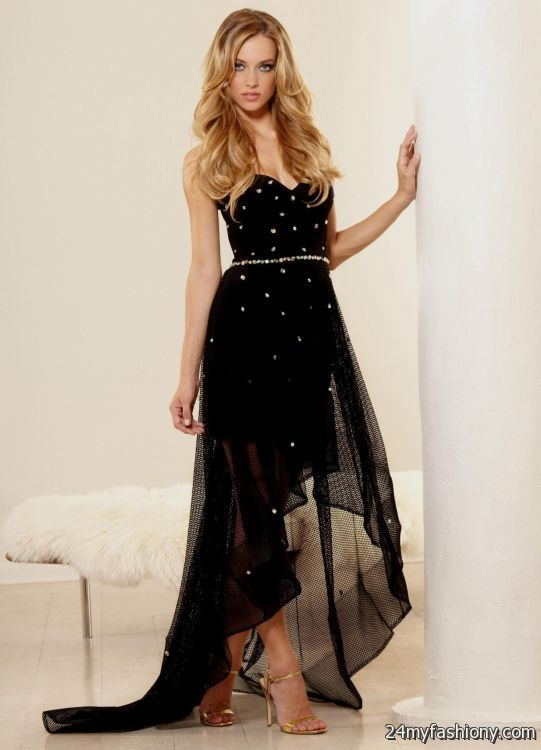 Black And Gold High Low Prom Dress Looks B2b Fashion