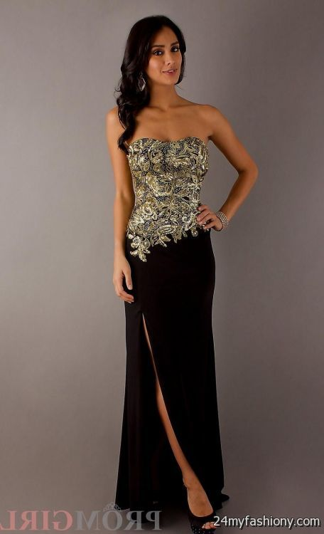 Black And Gold Prom Dress Looks B2b Fashion