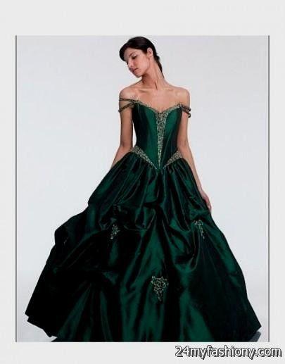 black and green gothic wedding dresses 2016-2017 » B2B Fashion